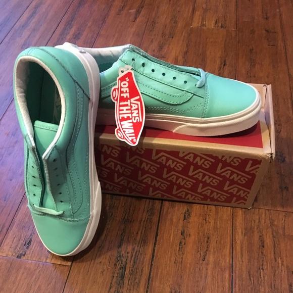 ad01d4b077 Vans Old Skool Leather Pastel Pack Ice Green